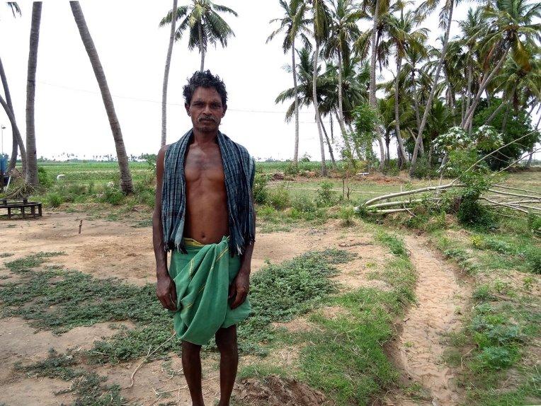 K. Lekam, also called Settu in Thayanur Village. Credit: PARI/ Jaideep Hardikar
