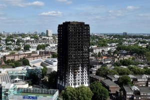 Extensive damage is seen to the Grenfell Tower block which was destroyed in a disastrous fire, in north Kensington, West London, Britain June 16, 2017. Credit: Reuters/Hannah McKay