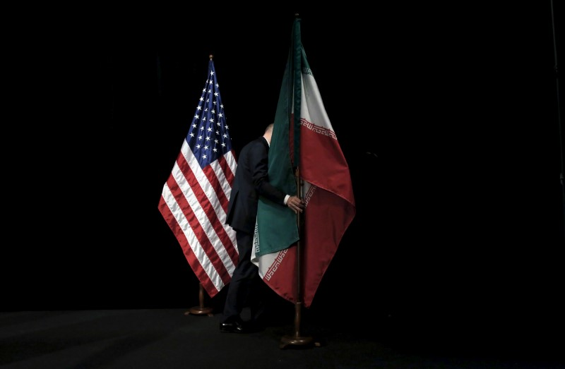 Iran_US Flags. Credit: Reuters/Carlos Barria/File Photo