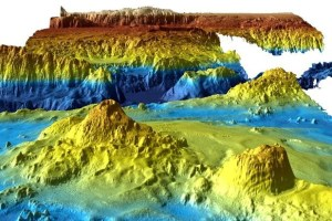 An undated supplied image from Geoscience Australia shows a computer generated three-dimensional view of the sea floor obtained from mapping data collected during the first phase of the search for missing Malaysia Airlines flight MH370. Credit: Reuters/Commonwealth of Australia (Geoscience Australia)