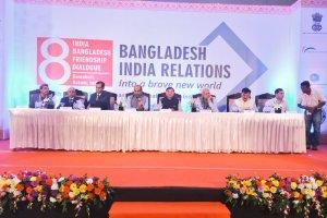Bangaldesh India Freindship Dialogue in progress at Guwahati. Credit: Twitter/@rammadhavbjp