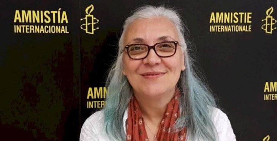 File photo of Idil Eser from Amnesty International's campaign to get her freed along with the other workers. Credit: Twitter/Amnesty International.