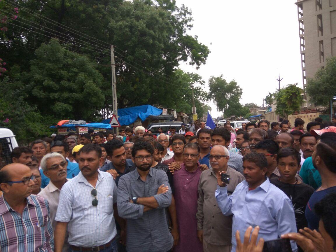 The Azadi Kooch march. Credit: Damayentee Dhar