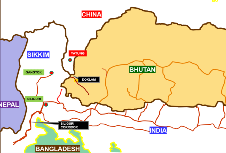 9. Indian sketch map Bhutan-India-China trijunction