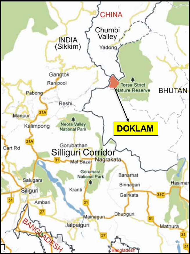 in a war over doklam why china will likely be the eventual loser asia Karakoram Mountain Range Map indian sketch map of the doklam region credit by special arrangement