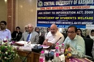 Kashmir RTI workshop