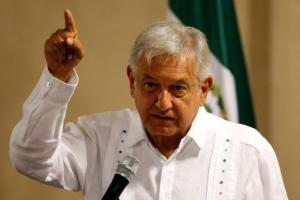 Andres Manuel Lopez Obrador, leader of the National Regeneration Movement (MORENA), speaks during a news conference in Mexico City, Mexico June 9, 2017. Credit: Reuters/Henry Romero