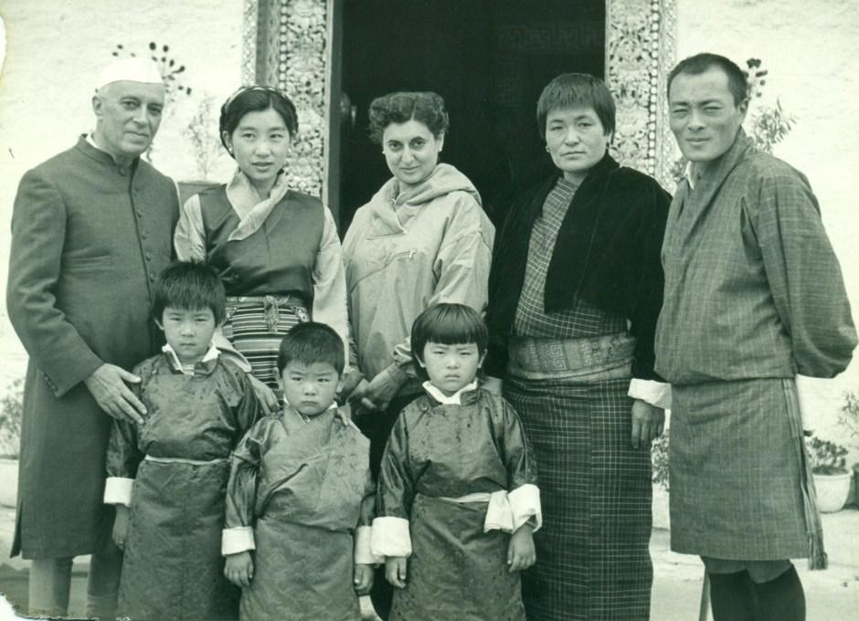 Jawaharlal Nehru, Indira Gandhi with the 3rd king's family