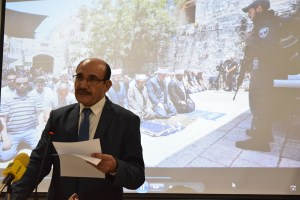 Palestinian ambassador to India Adnan M.A. Abualhayjaa condemned Israel's security crackdown at the Al-Aqsa mosque in Jerusalem. Credit: Mallory Moench