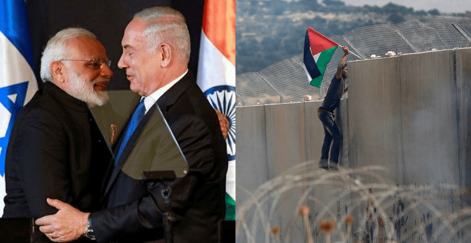 Why did the media forget about Palestine during Prime Minister Narendra Modi's visit to Israel? Credit: Reuters
