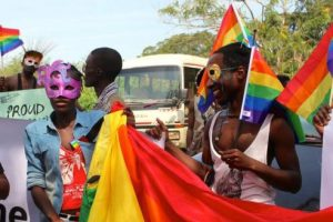Participants at a gay pride celebration in Uganda. Credit: Amy Fallon/IPS