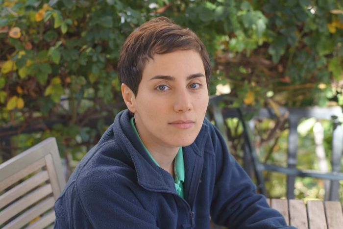 Some Iranian newspapers ran this photo of Maryam Mirzakhani, a professor of mathematics at Stanford University, after her death. (Stanford University: supplied)