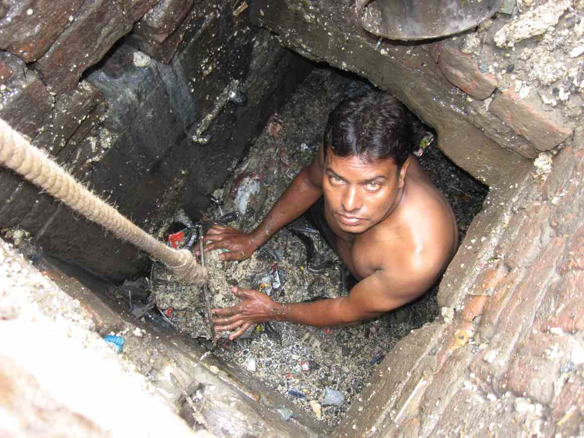Manual scavenging is still a grim reality in India. Courtesy: Safai Karamchari Andolan
