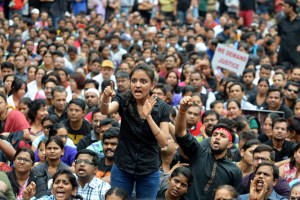 """In just over three years in office [the BJP] has either directly suppressed dissent, especially on the university campus, by terming it anti-national, or has kept quiet when Dalits and minorities have been attacked, often brutally by social outfits affiliated to it,"" Vajpeyi writes. Representative image credit: Reuters/Stringer"