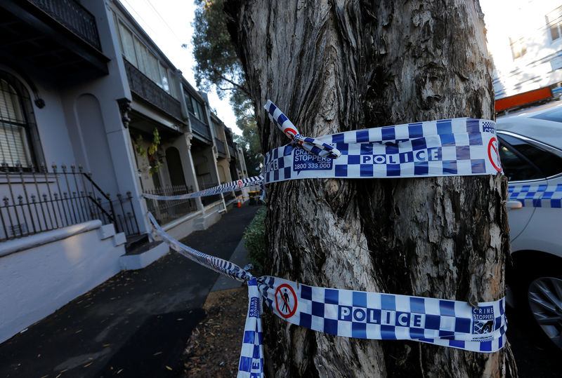 Police tape surrounds a property targeted in recent raids related to a planned attack on Australia's aviation sector in the Sydney suburb of Surry Hills, Australia, August 4, 2017. Credit: Reuters/Jason Reed