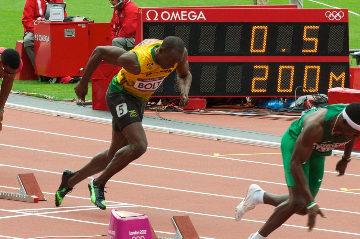 Usain Bolt, 2012. Credit: nickwebb/Flickr, CC BY 2.0