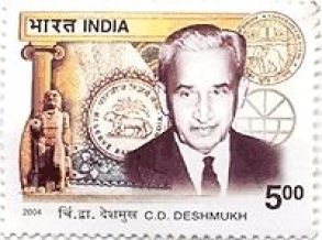C.D. Deshmukh on an Indian postal stamp. Courtesy: eBay