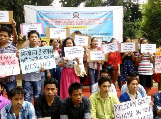 Chakma students protesting in New Delhi. Credit: Suhas Chakma