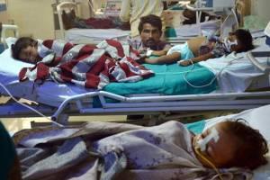 Children at the BRD Medical College, Gorakhpur. Credit: PTI