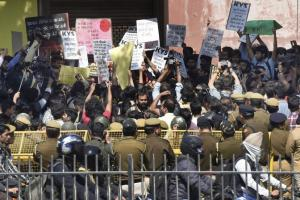 A protest against the ABVP violence at Ramjas College. Credit: PTI/FIles