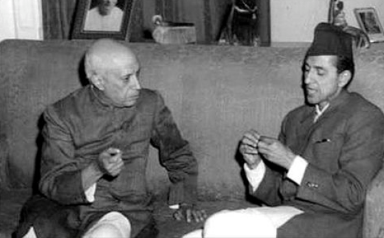 Jawaharlal Nehru with B.P. Koirala in 1960. Credit: Photo division