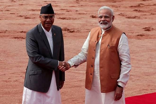 Nepal PM Sher Bahadur Deuba with Prime Minister Narendra Modi. Credit: Reuters