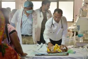 Over 70 children have died in the Gorakhpur hospital since last week. Credit: PTI