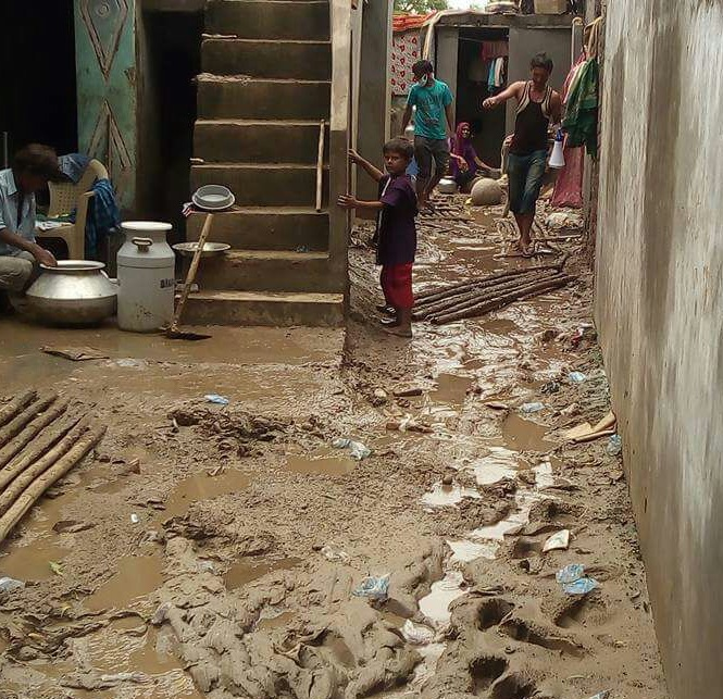 Life post floods in Gujarat. Credit: Damayantee Dhar/ The Wire