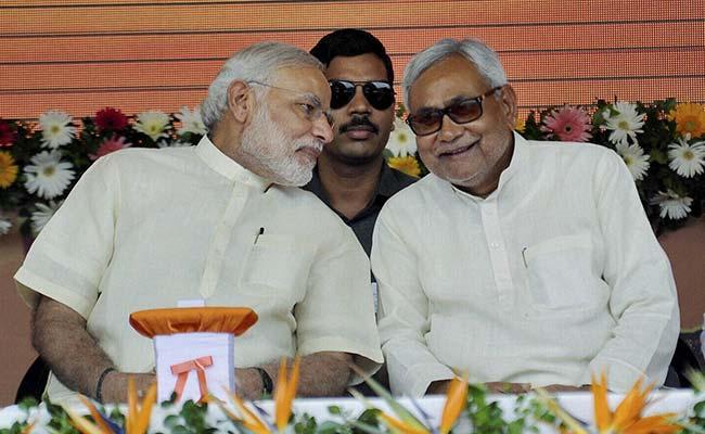 Prime Minister Narendra Modi with Bihar CM Nitish Kumar. Credit: PTI