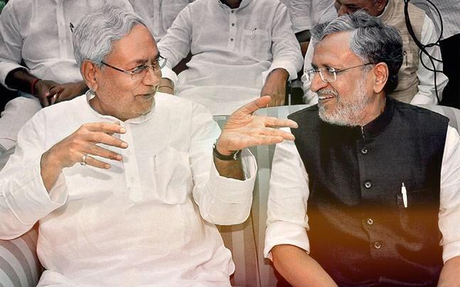 Nitish Kumar and Sushil Kumar Modi. Credit: PTI