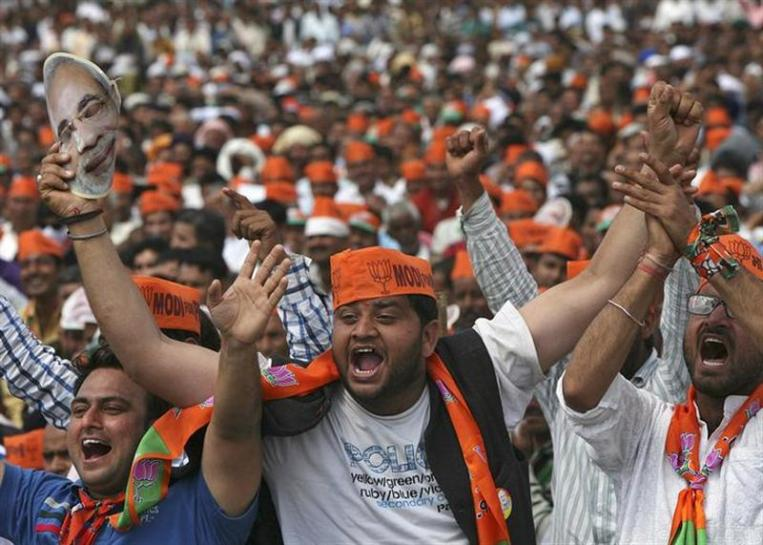 Supporters of Bharatiya Janata Party. Credit: Reuters