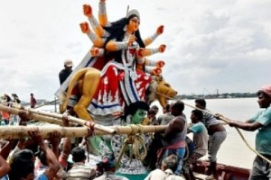 Durga idol immersion