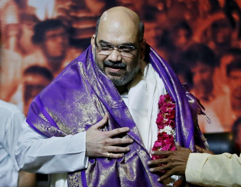 Amit Shah during a news conference in New Delhi July 9, 2014. Credit: Reuters