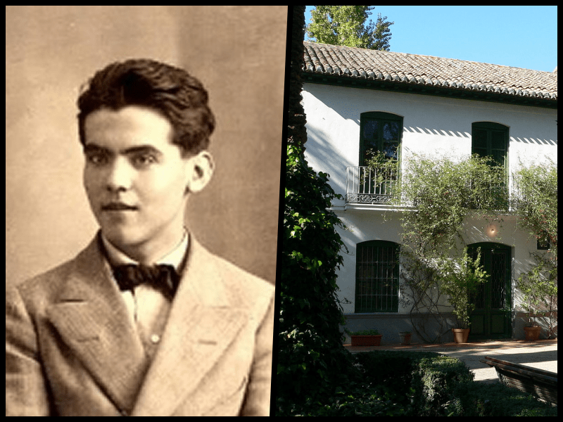 Federico Garcia Lorca and his home in Grenada. Credit: Wikimedia Commons
