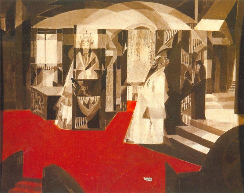 <em>Magician</em> by Gaganendranath Tagore. Courtesy: National Gallery for Modern Art