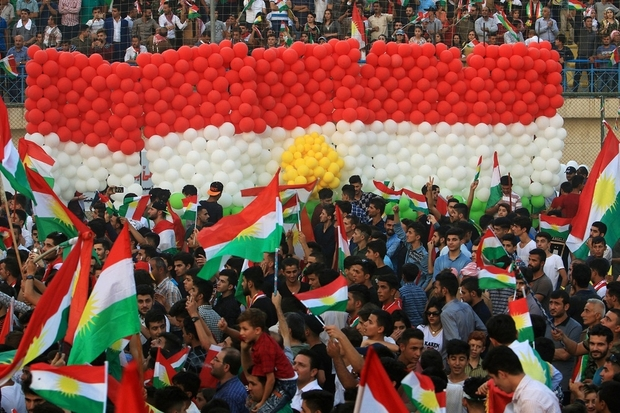 Kurdish people attend a rally to show their support for the upcoming September 25th independence referendum in Duhuk, Iraq September 16, 2017. Credit: Reuters