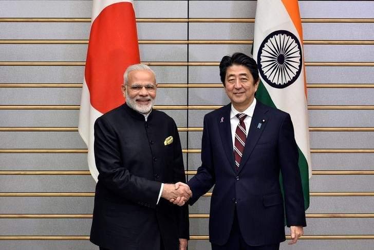 Prime Minister Narendra Modi and his Japanese counterpart Shinzo Abe. Credit: Reuters