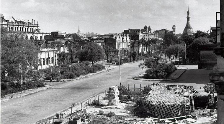 The destruction of Rangoon in the aftermath of the Second World War. Credit: Wikimedia Commons