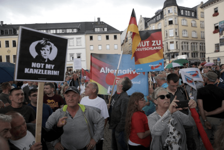 Alternative for Germany party supporters. Credit: Reuters/Matthias Schumann