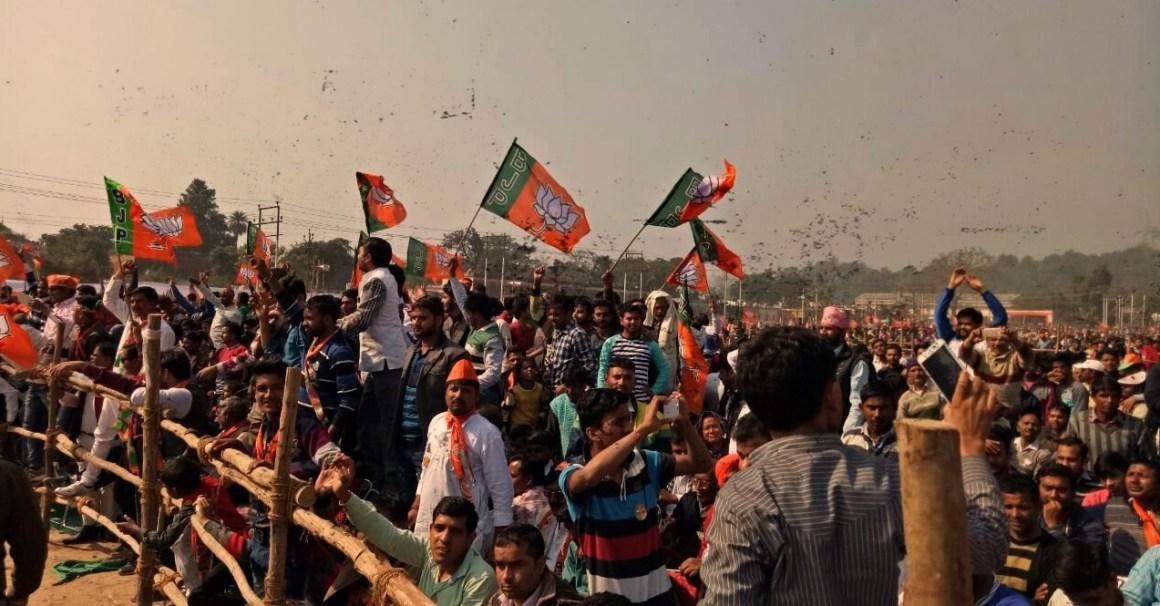A pre-election BJP rally in Uttarakhand. Credit: Twitter/Uttarakhand BJP