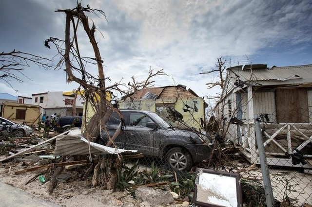 View of the aftermath of Hurricane Irma on Sint Maarten Dutch part of Saint Martin island in the Carribean September 7, 2017. Netherlands Ministry of Defence- Gerben van Es/Handout. Credit: Reuters