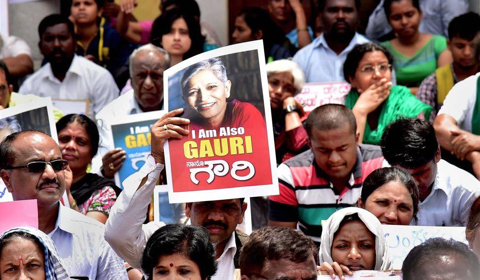 Gauri Lankesh protest