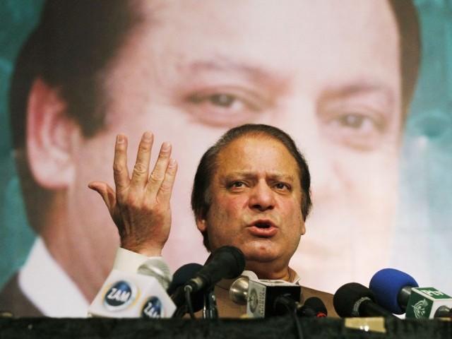 Former PM Nawaz Sharif. Credit: Reuters