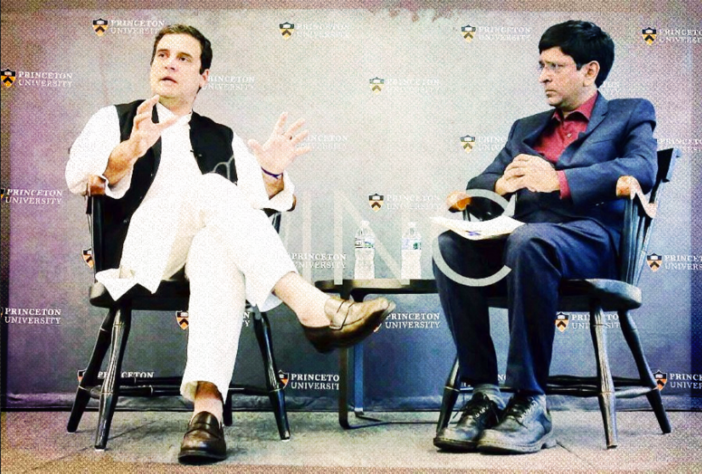 Rahul Gandhi at Princeton University. Credit: Twitter/OfficeOfRG