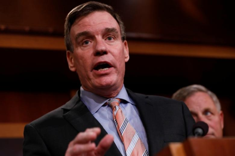Senator Mark Warner (D-VA) speaks at a news conference to discuss the committee's probe of Russian interference in the 2016 election on Capitol Hill in Washington, D.C., U.S., March 29, 2017. Credit: Reuters
