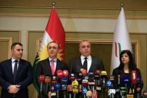 The High Elections and Referendum Commission holds a press conference in Erbil, Iraq September 27, 2017. Credit: Reuters