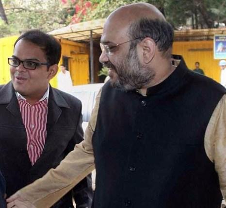 Jay Shah, Amit Shah. Credit: PTI