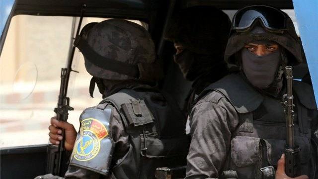 Members of the police special forces in Cairo, Egypt, August 7, 2016