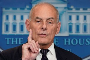 White House Chief of Staff John Kelly speaks during a daily briefing at the White House in Washington, US, October 19, 2017. Credit: Reuters/Yuri Gripas
