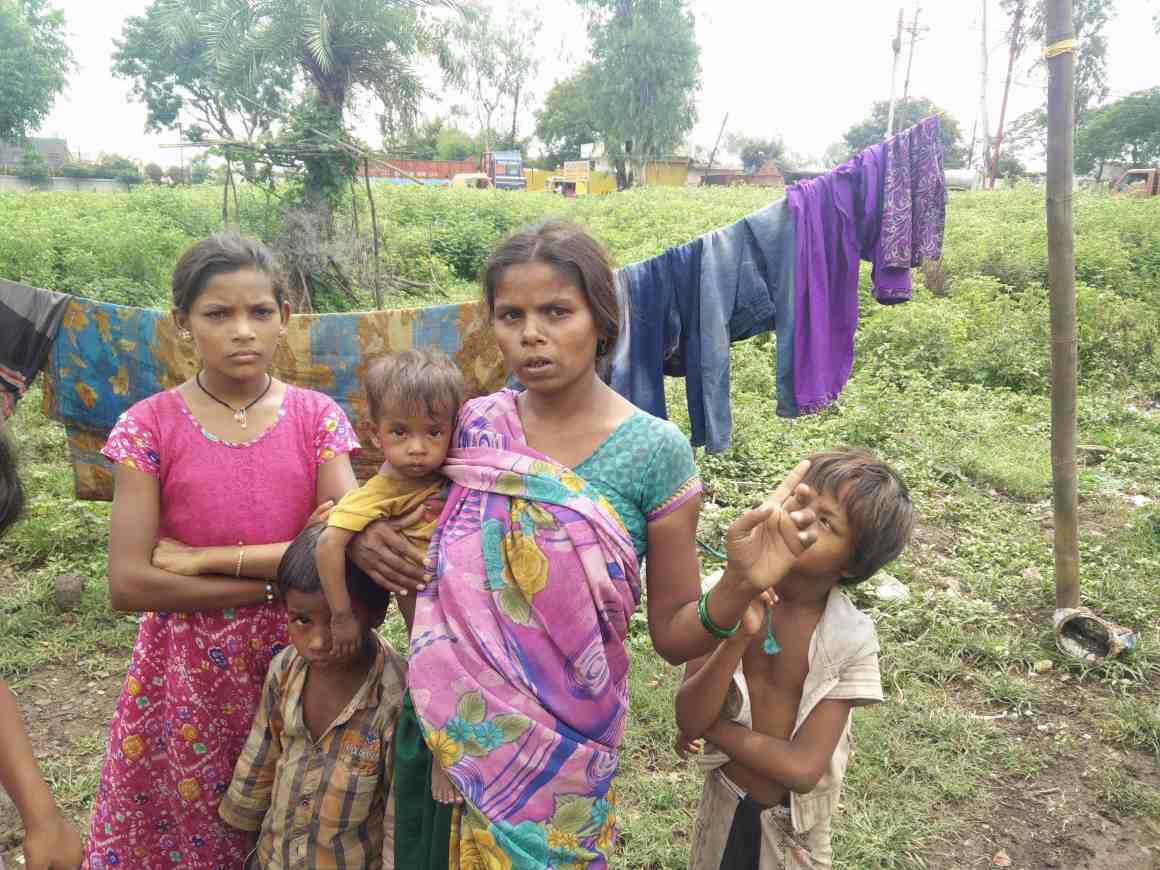Nanjubai and 40 other families lost their houses to a demolition drive carried out by the Indore Municipal Corporation at Sukhniwas slums after the corporation failed to build toilets on time. Credit: Sukanya Shantha